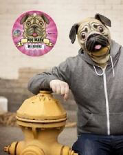 Full Size Adult Pug Latex Mask Halloween Dog Lover By Accoutrements