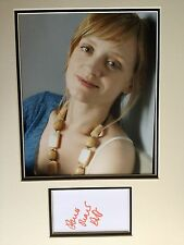 ANNE MARIE DUFF - TOP ACTRESS - SHAMELESS - SUPERB SIGNED COLOUR PHOTO DISPLAY