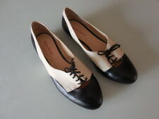 Diana Ferrari SIZE 9  BLACK/WHITE LEATHER BALLET FLATS SHOES STUNNING AS NEW