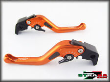 KTM 690 SMC Duke / R 2012 - 2013 Strada 7 Kurz Kohlefaser Inlay Hebel Orange