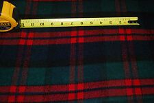 Wool Acrylic blend one side fleeced woven fabric yarn dyed plaids flannel type