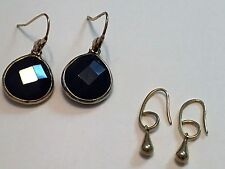 Stella & Dot Lot of 2 Earrings Serentity Stone Drops Dyed Jade & Gold Drops