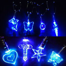1 PC New LED Blue Light Charm Magnetic Pendant Necklace for Xmas Birthday Party