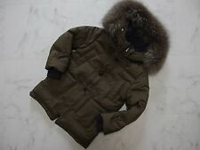 NWT Loro Piana Kids Blue Fox Fur Goose 100%Cashmere Jacket 4A 104cm 41inch