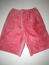 New Womens 2 NWT Italy Designer Marni Shorts 38 Pink Rouge Red Leather Suede