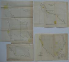 4 Original 1837 Land Office Survey Maps LOUISIANA Red River Atchafalaya Maurepas