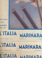 L'ITALIA MARINARA - RIVISTA - ANNATA 1935 - MARINA - LEGA NAVALE - [SB-3]