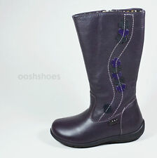 Primigi Girls Purple Leather  Zip Boots UK 9 EU 27 US 9.5 Giova RRP £55.00