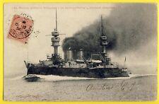 cpa Marine Militaire Navire Bateau CUIRASSÉ d'Escadre LE JAURÉGUIBERRY Ironclad
