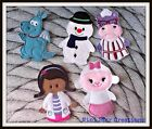 Handmade Doc McStuffins Finger Puppets - Lambie. Stuffy. Chilly. Hallie