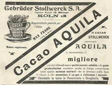 Y2170 Cacao Stollwerck marca Aquila - Pubblicità del 1903 - Old advertising