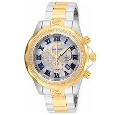 Invicta 21713 Men's Grand Diver Diamond Accented Bezel MOP Dial Two Tone Steel