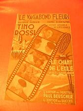 Partition Le Vagabond Fleuri Tino Rossi Le chant des Exilés