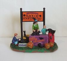 Lemax Halloween Spooky Town Brunhilda's Black Cat Adoption #43067 Witch (OR1)