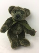 RUSS Green Fur Teddy Bear Timperley Vintage Collection