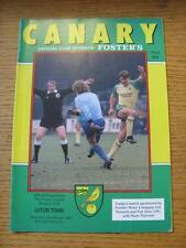 21/03/1987 Norwich City v Luton Town  (No Apparent Faults)