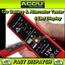 12v Car Van Battery Voltage & Alternator Condition Tester With 6 LED Indicators