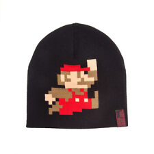 OFFICIAL NINTENDO'S SUPER MARIO BRO'S 8-BIT MARIO BLACK BEANIE HAT (NEW)