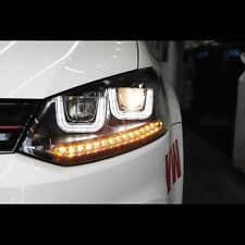LED UU Sequential Projection Xenon HID Headlight For Volkswagen Polo 2012~2015