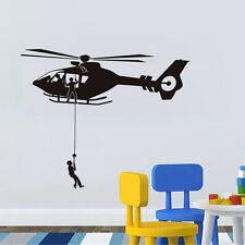 Airforce Helicopter Vinyl Wall Decal Removable Army Plane Room Decorative Decor
