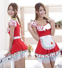 HOT RED Sweet Strawberry Modello Moda Lolita Abito Cosplay Costume, UK 10-14