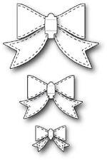 """MEMORY BOX 30056 """"Stitched Bows""""  3 Crafting Dies100% Steel Die"""