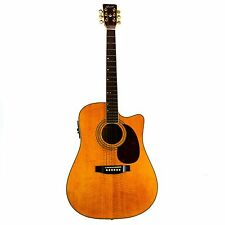 Cort Acoustic-Electric Guitar Korea Cutaway Hollow Natural Vintage Round-Back