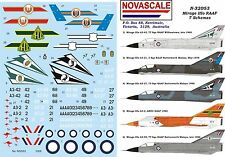 RAAF Mirage IIIo - 7 Schemes Decals 1/32 Scale N32053