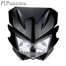 HEADLIGHT HEAD LAMP BLACK STREETFIGHTER DIRT BIKE KLX CRM XR DRZ RMZ RM250 YZ WR