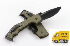 AK47-  STEEL Model Green Handle Folding Pocket Camping Survival Knife