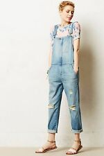 $348 Anthropologie Current/Elliott Ranch Hand Denim Overalls Sz 1 NWT