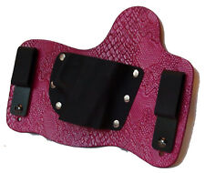"""FoxX Leather & Kydex IWB Holster Violet """"Python"""" Snake Embossed Ruger LC9/LC380"""