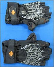 "Harley Davidson New Ladies Size L-Large Finger Less Gloves ""MotoCruise"""