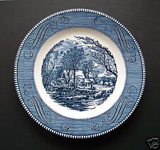 """Vintage  """"The Old Grist Mill"""" 10""""  Royal China Currier & Ives Plate Made In USA"""