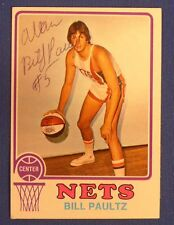 BILL PAULTZ signed 1973-74 Topps ABA New York Nets