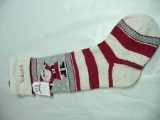 Pottery Barn Fair Isle Christmas stocking Santa Nathaniel Dominic