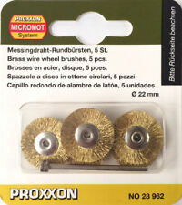 Proxxon micromot brass wire wheel brushes 28962 202356 / Direct from RDGTools