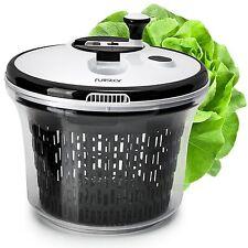 Large 5L Salad spinner with bowl  lockable colander basket and smart lock lid...