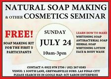 Natural Soap Making Seminar