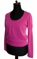 M&S  LIMITED COLLECTION PURE 100% CASHMERE RASPBERRY PINK JUMPER BLOUSE 14 16