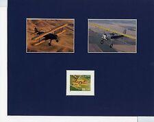 The Stearman Model PT-17 plane & Model C3R plane & the Stearman Model 75 stamp