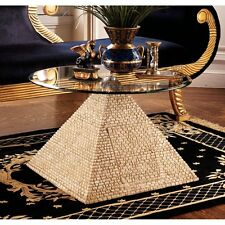 KY4022 - Great Egyptian Pyramid of Giza Sculptural Glass-Topped Table - New!