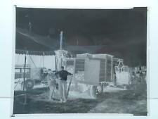 Mills Bros 3 Ring Circus Black&White Negative Film Set Up Workers Truck Tent #81