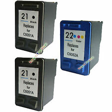 2pcs HP 21 Black + 1pcs 22 INK Color CARTRIDGE for 1410 5610 F2179 PRINTER
