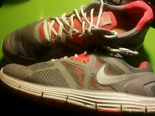 Men's Nike LUNARLON Revolution Running in Grey and Red Shoes Size 9.5 M canvas