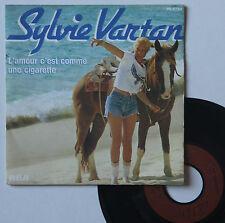 """Vinyle 45T Sylvie Vartan  """"L'amour c'est comme une cigarette"""""""