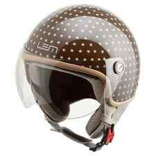 CASCO MOTO SCOOTER VESPA JET LEM ROGER DUSTY BROWN MARRONE DONNA TG XS