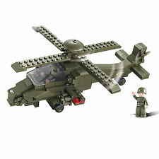 SLUBAN ATTACK HELICOPTER SET - Construction Bricks Blocks Toy 199 Pieces