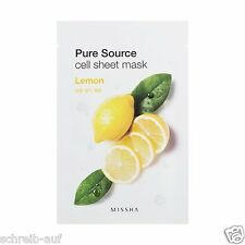 3x MISSHA Pure Source Cell Sheet Mask (Lemon)