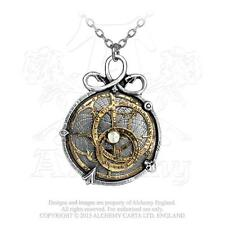 Anguistralobe ALCHEMY Gothic Pendant Necklace SERPENT Steampunk Astrolabe
